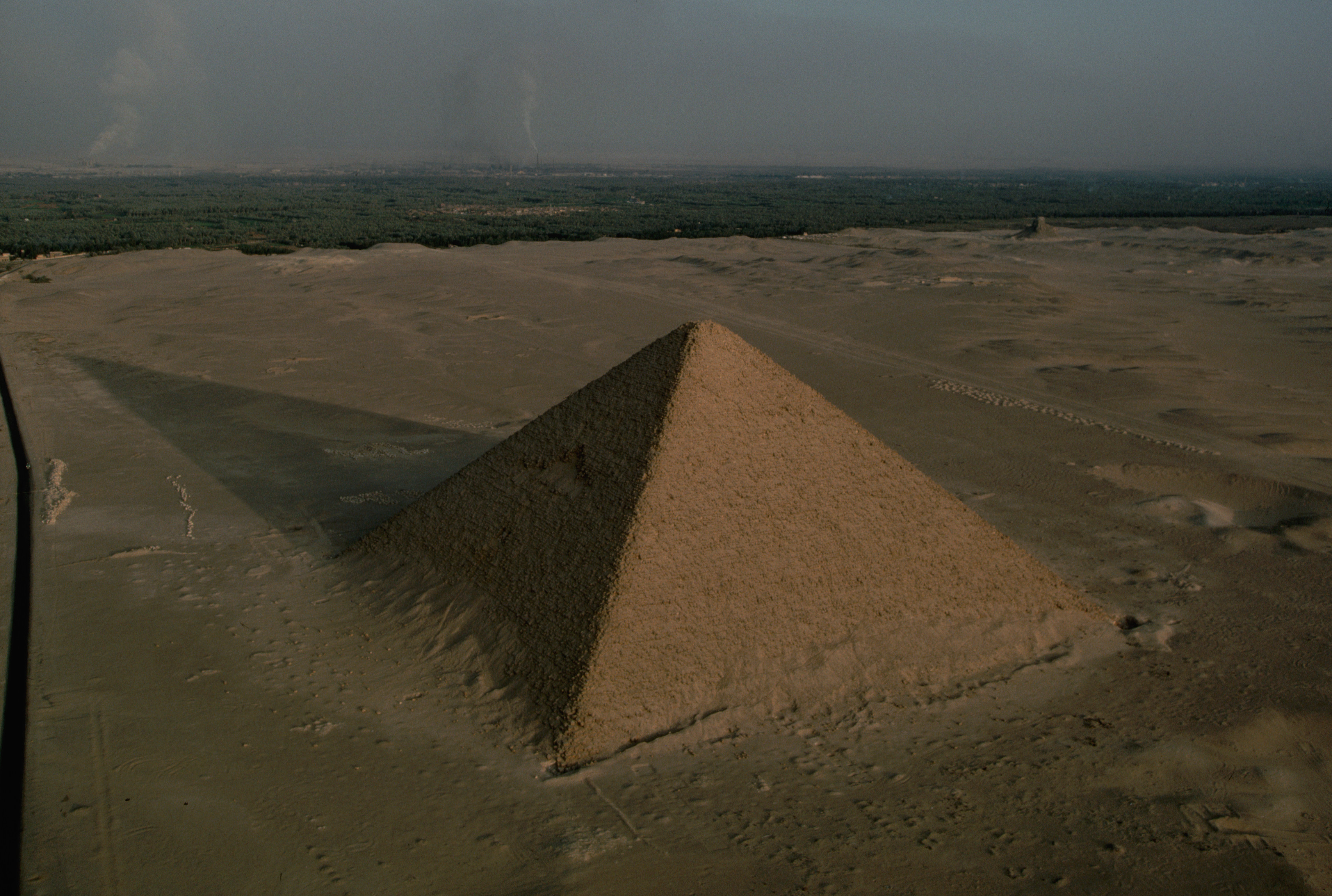view of city and giza pyramids from cairo citadel cairo the north pyramid of dahshur king snefru 2575 bce 2551 bce ancient