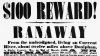 reward poster, runaway slave, runaway slave poster, ripley county, missouri, 1860, black history, the battle over slavery