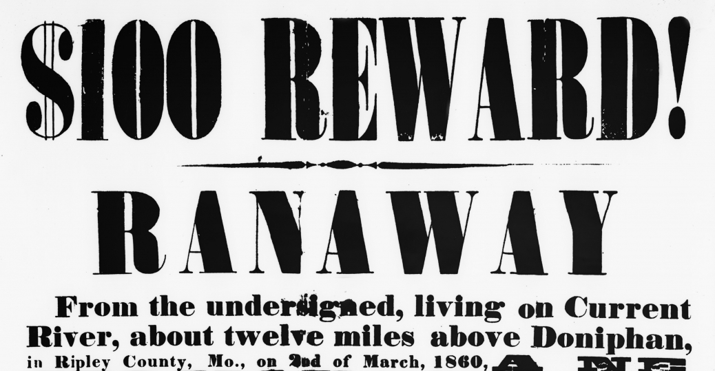wanted-poster-for-runaway-slave - The Battle Over Slavery
