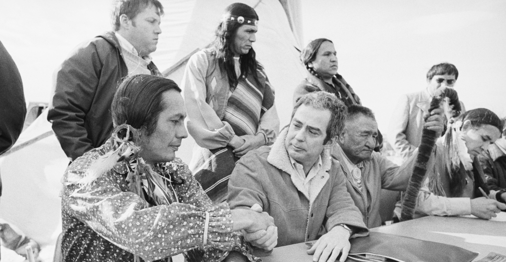 american indian movement, AIM, russell means, u.s. assistant attorney general kent frizzell, historic village, wounded knee, south dakota, native americans, native american legislation