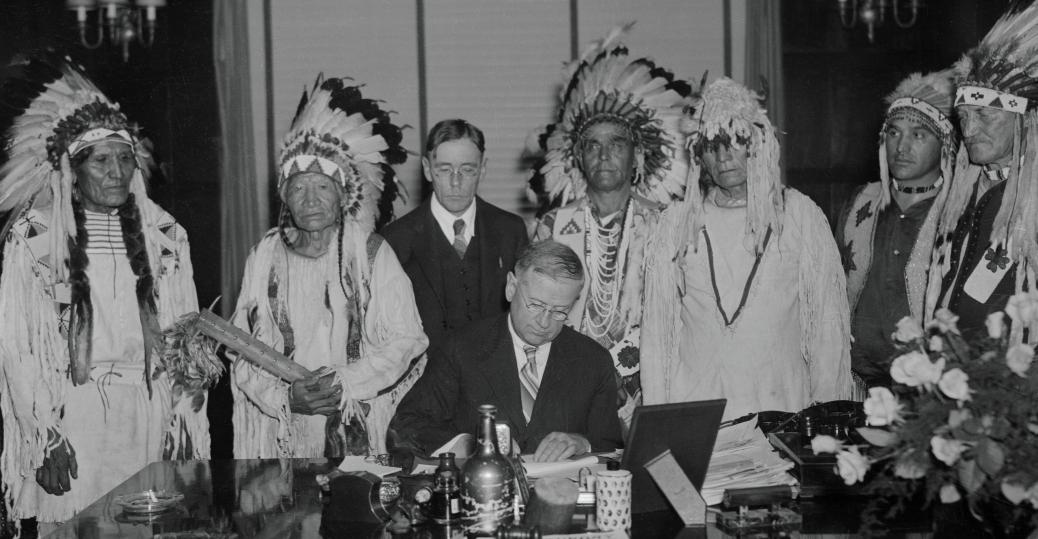American Indians Protesting Legislation Native American
