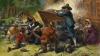 virginia, virginia settlers, bacon's rebellion, 1676, settlers fighting native americans, native americans, native american warriors, native american battles