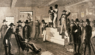slave auction, virginia, 1861, black history, slave trade