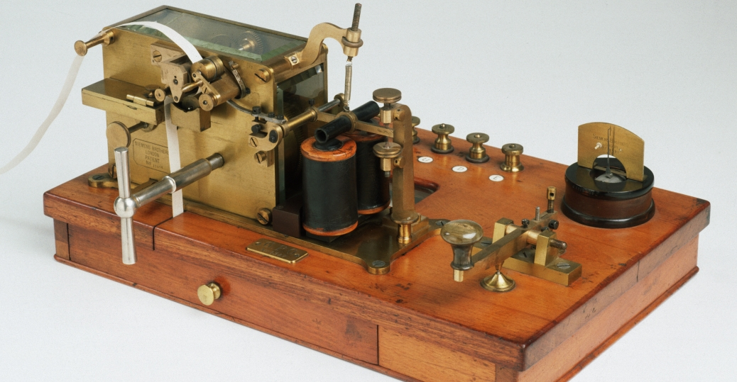 morse code, dots and dashes, beeping sounds, telegraph machine, communication inventions