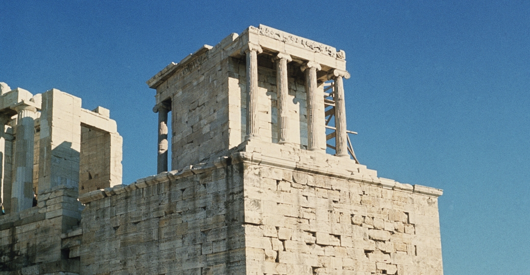 exterior view of the temple of athena nike greek architecture