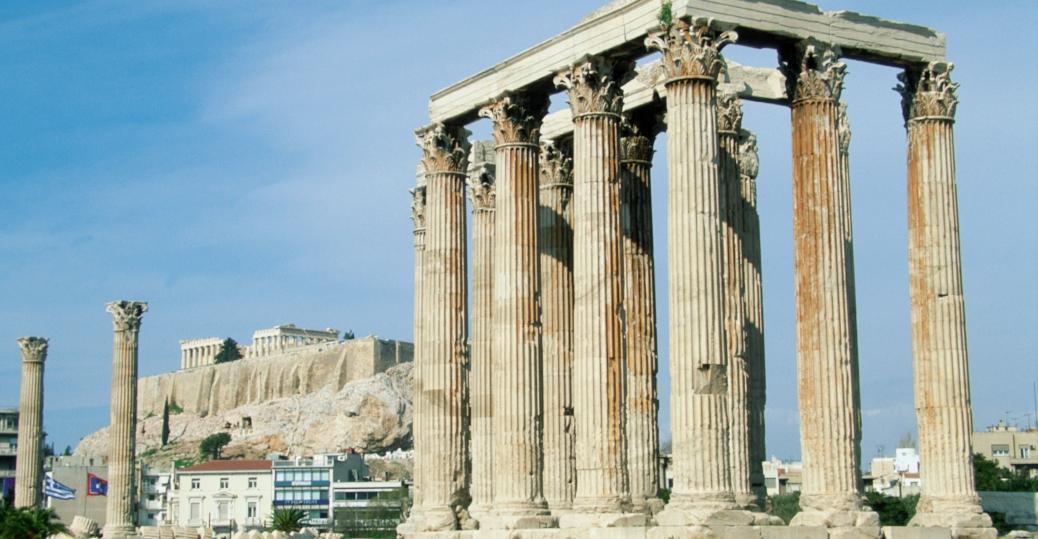 Temple Of Olympian Zeus Athens Corinthian Order Greek Architecture 2nd Century BCE