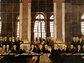 an introduction to the histor of germany after the treaty of versailles The hall of mirrors,  it was also here that the treaty of versailles was signed on 28 june 1919,  germany kneeling down with an eagle.