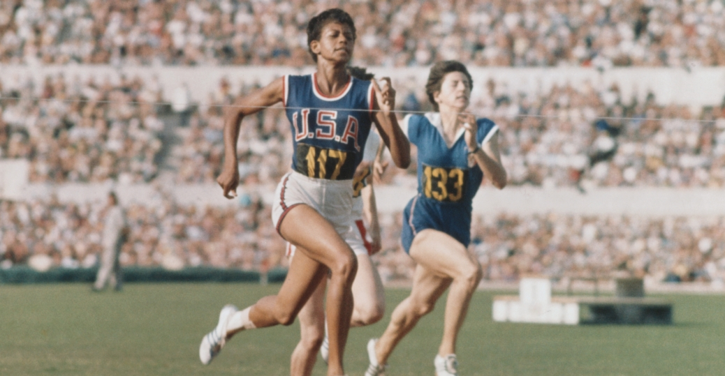 wilma rudolph, gold medal, 1960, 1960 Olympics, Rome, Italy, track-and-field, black history, black women athletes