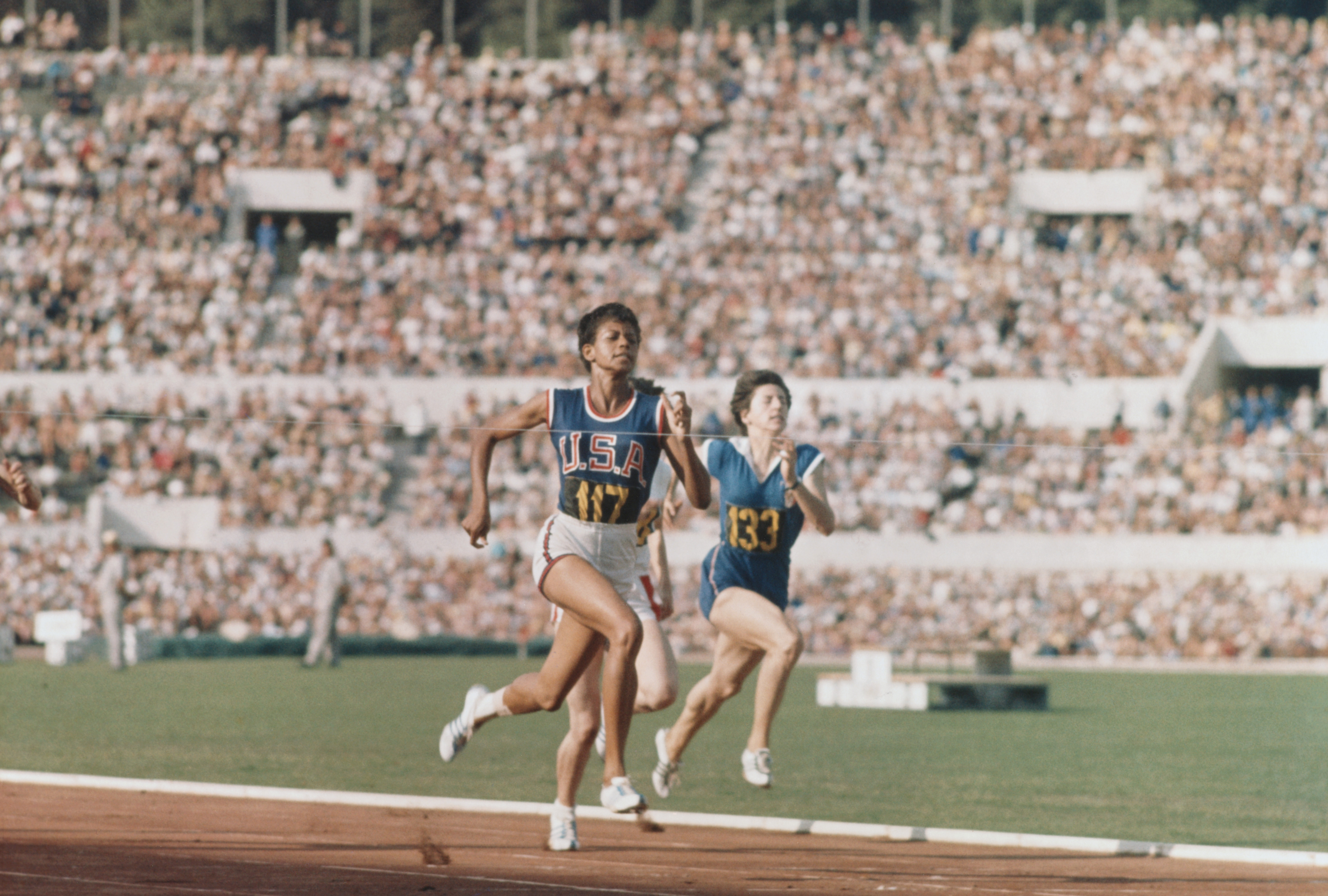 Wilma rudolph sprinting in 1960 summer olympics black women wilma rudolph gold medal 1960 1960 olympics rome italy track voltagebd Choice Image