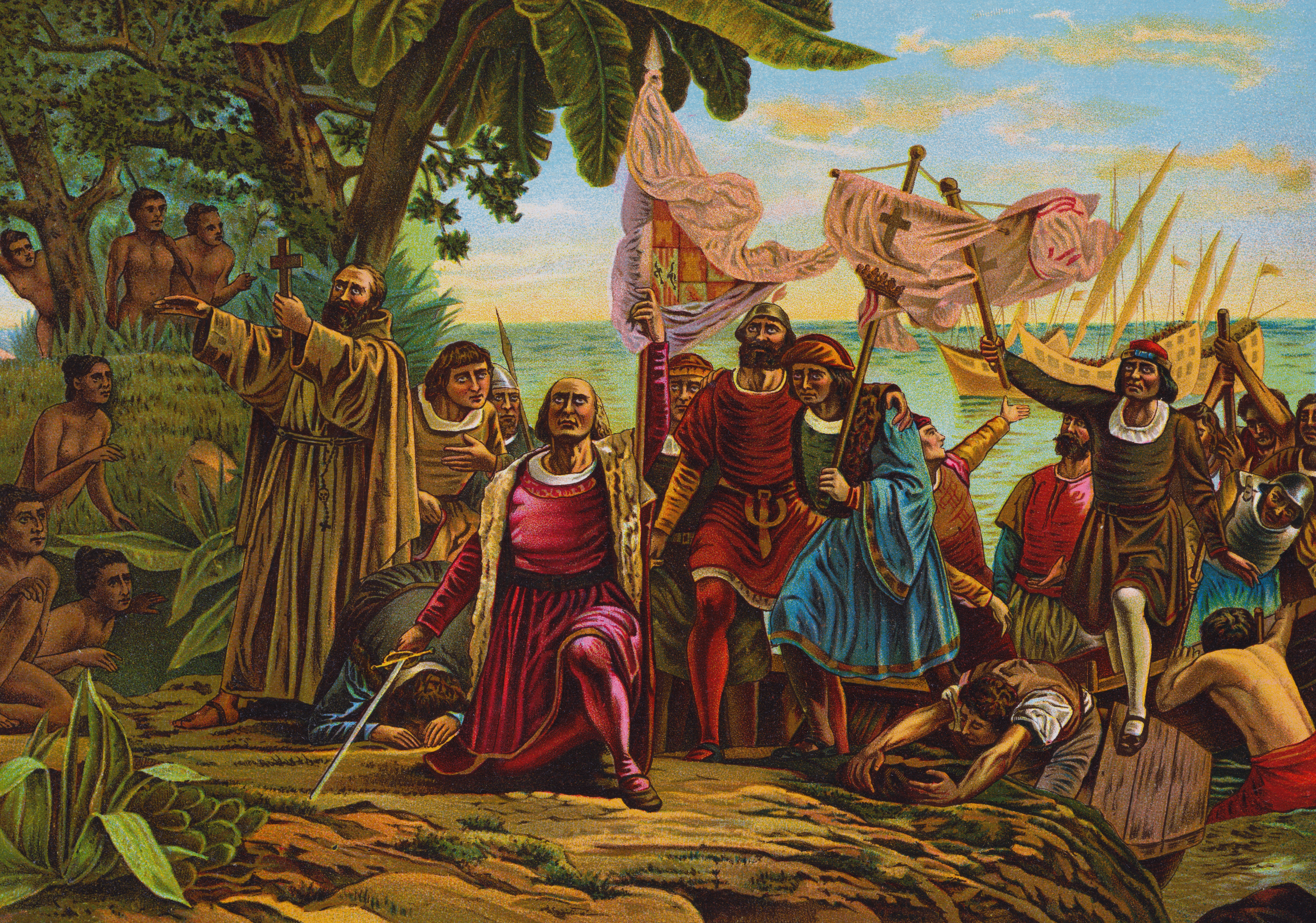 the planned discovery of christopher columbus on october 13th 1492 On august 3, 1492, columbus set sail from spain to find an all-water route to asia on october 12, more than two months later, columbus landed on an island in the bahamas that he called san salvador the natives called it guanahani.