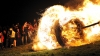 burning oak wheel, easter, easter sunday, germany