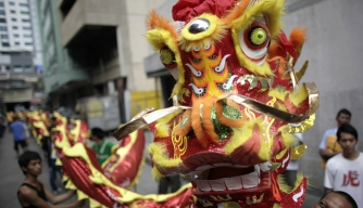 members-of-a-lion-dance-troupe-display-their-costume-that ...