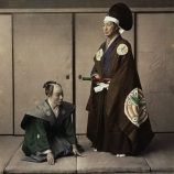 japanese actors, feudal lord, servant, feudal japan, daimyo