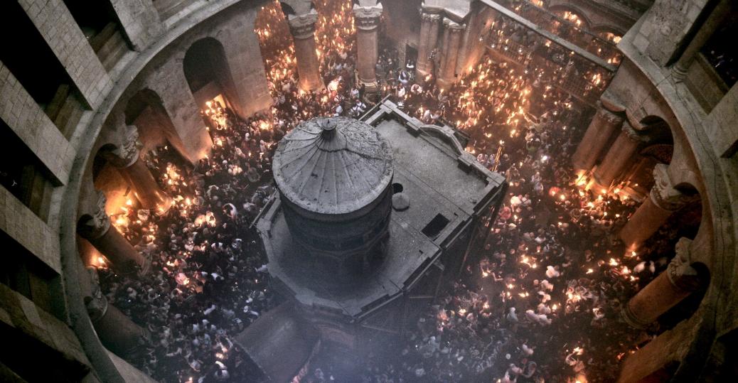 holy fire ceremony, jerusalem, holy saturday, easter, the holy sepulcher church