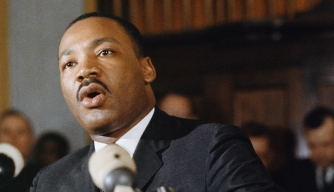 Martin Luther King Jr. speaks at the memorial service for Minister James Reeb