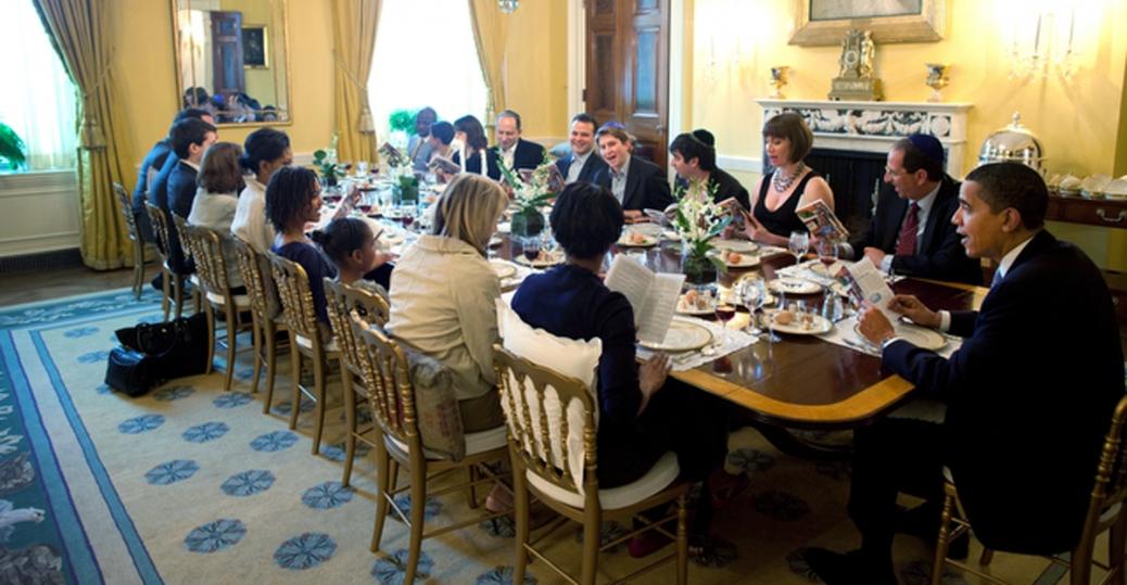 President Barack Obama, Michelle Obama, Passover Seder, Old Family Dining  Room, The