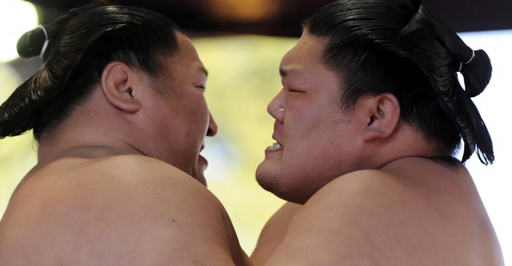 sumo wrestlers, sumo wrestling, tokyo, japan, 17th century, feudal japan