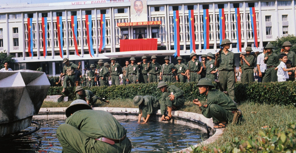 the vietnam war, the fall of saigon, north vietnamese victory, the palace fountain
