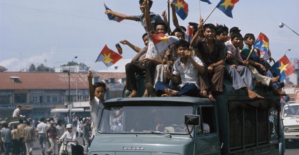 fall of saigon, celebrations, april 30, 1975, the vietnam war, the end of the vietnam war