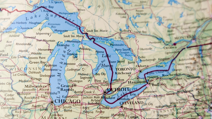 Are the Great Lakes connected Ask History