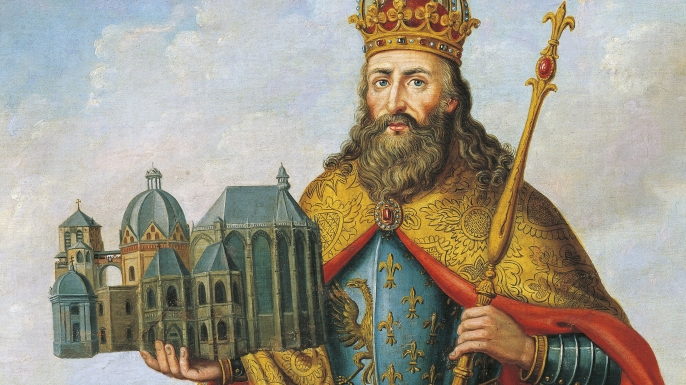 list 7 events christmas  Charlemagne crowned