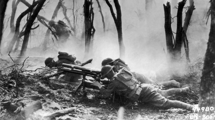U.S. forces pinned down in the Argonne Forest (Credit: Getty Images)