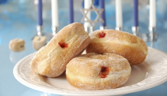 Frying Up Doughnuts for the Festival of Lights