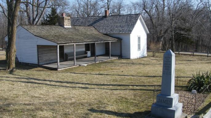 James' family farm in Clay County, Missouri