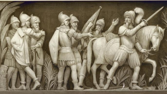 Pizarro departing in search of El Dorado