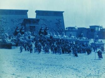 """Filming of """"The Ten Commandments,"""" 1923"""
