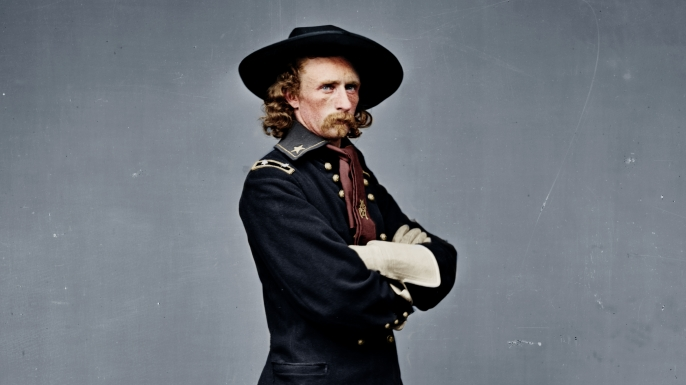 a biography of george armstrong custer an american civil war hero George custer was an american commander and brevet general who fought in  the american civil war and was killed at little  george armstrong custer was  born december 5, 1839, in new rumley, ohio  in recognition of his heroism,  lieutenant general philip sheridan gave the young military hero the.