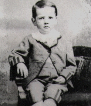 Hoover as a child