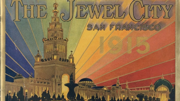 Souvenir booklet for the 1915 World's Fair, featuring the Tower of Jewels