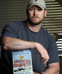 "Kyle's autobiography, ""American Sniper,"" was published in 2012. (Credit: Paul Moseley/Fort Worth Star-Telegram/MCT via Getty Images)"