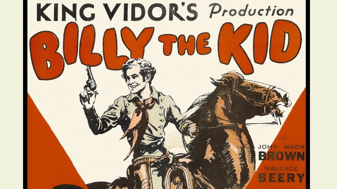 """Poster for the 1925 movie """"Billy the Kid."""""""