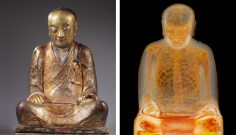 CT Scan Reveals Mummified Monk Inside Ancient Buddha Statue