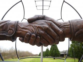 British memorial commemorating the 1914 Christmas Truce