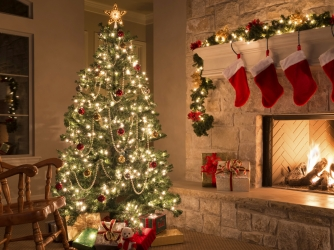 Hith Father Christmas Tree Lights Fireplace Great Ideas