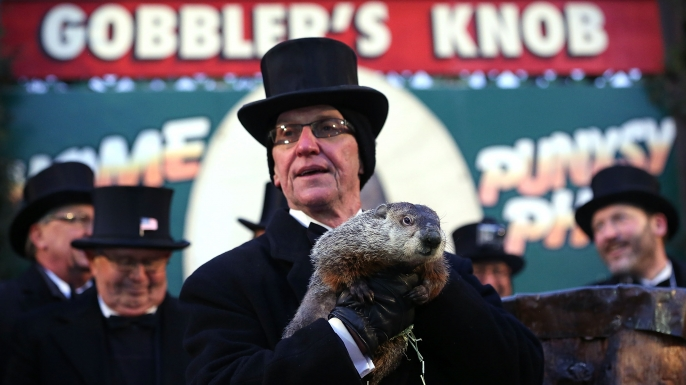 2013 Groundhog Day celebration in Punxsutawney, Pennsylvania