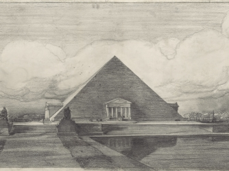 Pope's proposal for a pyramid-style monument (Credit: National Archives)