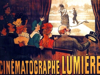 Poster for early film screened by the Lumière Brothers (Credit: Universal History Archives/Getty Images)