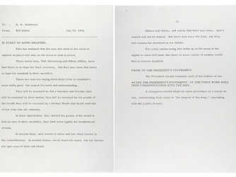 """William Safire's memo, """"In Event of Moon Disaster"""""""