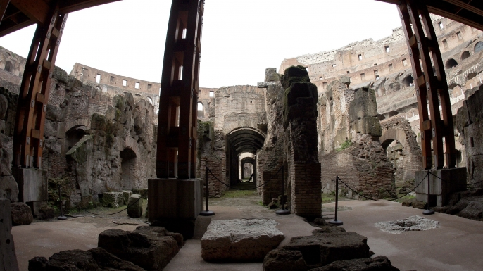 These chambers and tunnels below the Colosseum, designed to hold gladiators and wild animals, will be open to the public for the first time.