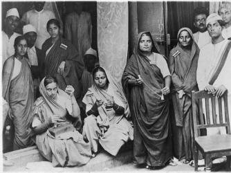 Female members of the Indian Nation Congress during the Salt March. (Credit: Mansell/The LIFE Picture Collection/Getty Images)