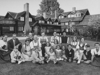 Members of the von Trapp clan at a family-run hotel in Vermont in 1965. (Credit: Ted Russell/The LIFE Images Collection/Getty Images)