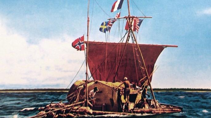 The Kon-Tiki voyage, 1947
