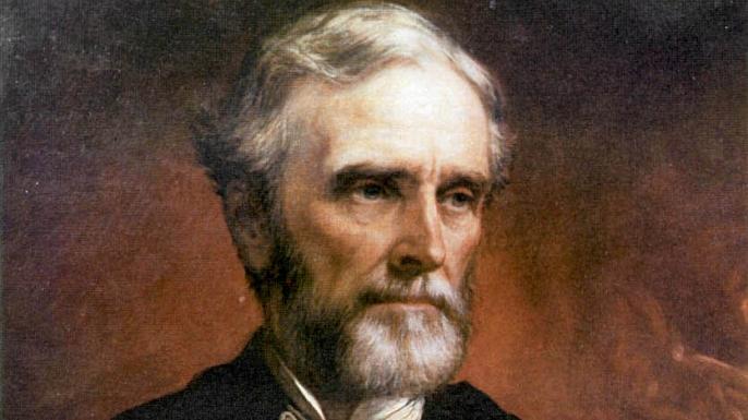 A postwar portrait of Jefferson Davis.