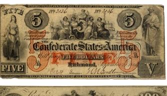 Confederate money