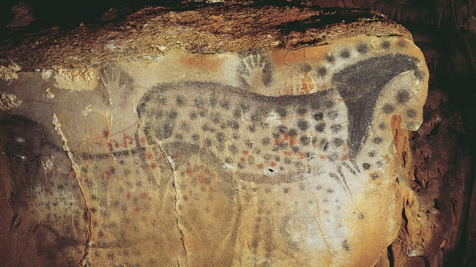Spotted horse images found in France's Pech Merle cave.