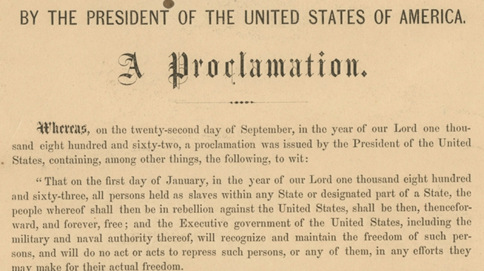 "a history of the emancipation proclamation in united states Democrats need a history lesson on the emancipation the emancipation proclamation was a war for suppressing"" a rebellion against the united states."